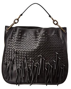 546eb4a20a5f Bottega Veneta Medium Loop Fringe Intrecciato Leather Hobo Bag