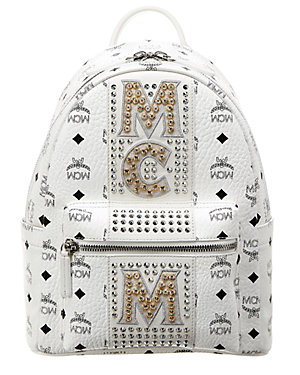 4d7f8b10c08f Mcm Stark Stripe Crystal Studded Small Visetos Backpack from Gilt ...