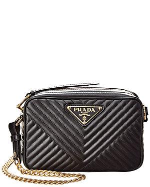 e8930fd88372a5 Prada Mini Diagramme Leather Shoulder Bag from Gilt - Styhunt