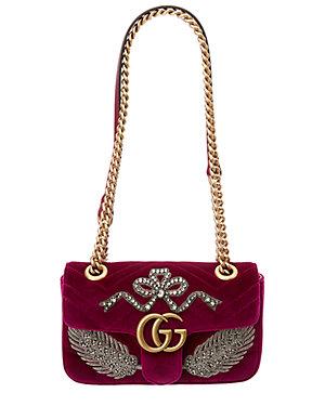 b652650fef57 Gucci Gg Marmont Mini Embroidered Velvet Bag · Save