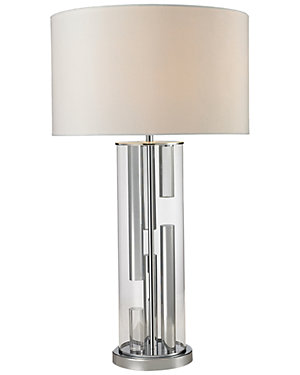 31in Trump Home Castello Clear Glass Table Lamp