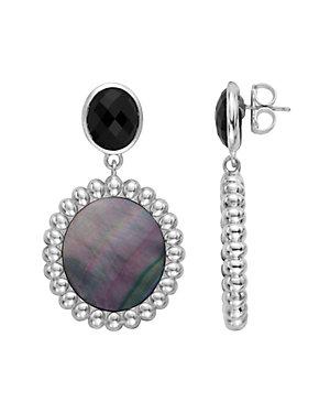 SLANE Nuage Silver Mother-of-Pearl Drop Earrings