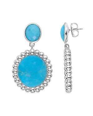 SLANE Nuage Silver 24.50 ct. tw. Turquoise Drop Earrings