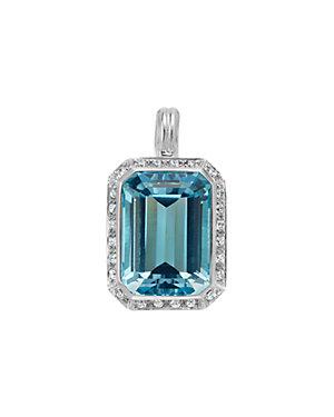 SLANE Grace Silver 0.48 ct. tw. Diamond & Topaz Enhancer