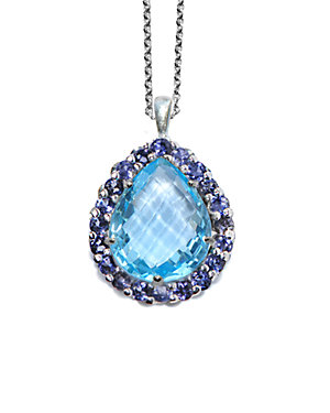Anzie Royale Silver 9.14 ct. tw. Topaz & Iolite Necklace