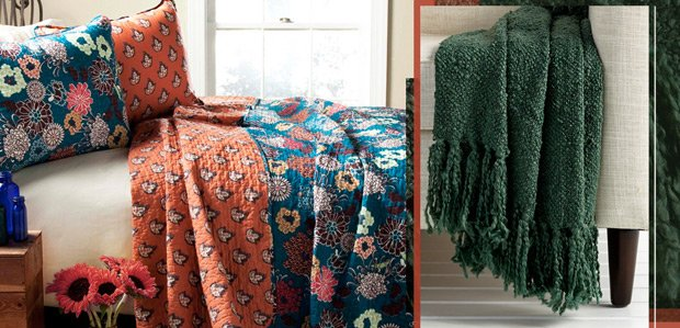 Layer the Bed: Blankets, Quilts, & Throws