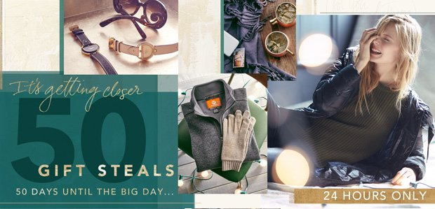 50 Gift Steals: 50 days until the big day…