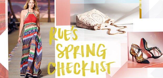 Rue's Spring Checklist