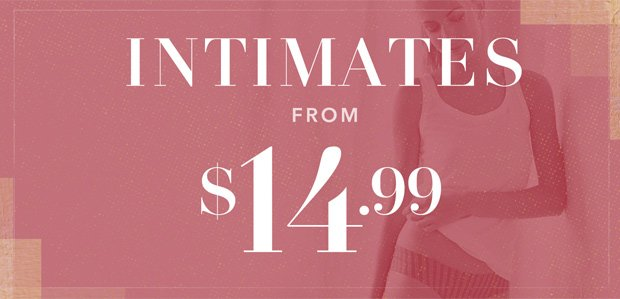 The Rue Warehouse Sale: Intimates