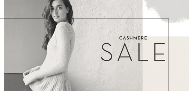 CASHMERE SALE: Cozy up to luxury.