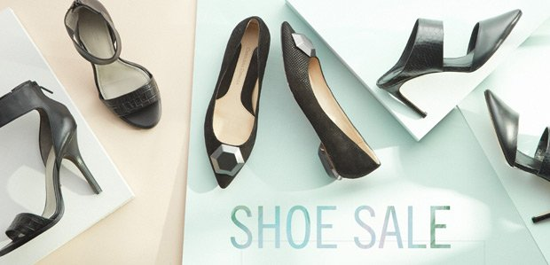 Prepare to sprint. SHOE SALE.