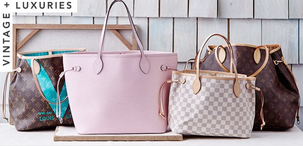 Vintage Totes Featuring Louis Vuitton Neverfull Bags