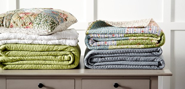 Quilts to Throws for a Lightly Layered Bed