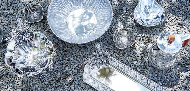 Metal Serveware That Really Shines Featuring Mariposa