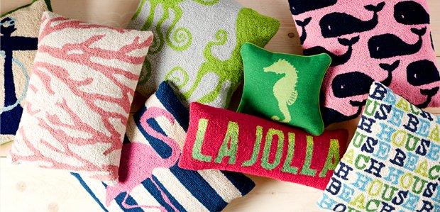 Beachy Throw Pillows: So Cute for the Summer