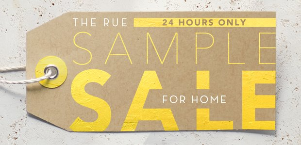 The Rue Sample Sale for Home