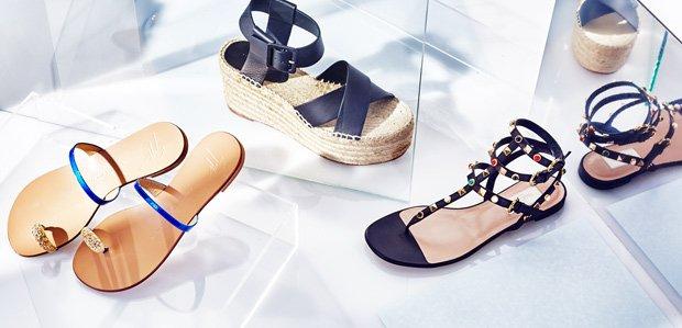 Luxe Flats & Sandals Featuring Giuseppe Zanotti