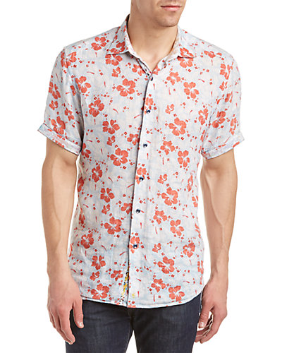 Robert Graham Canna Linen Classic Fit Woven Shirt
