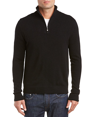 Qi Cashmere Mock Neck 1/4-Zip Sweater