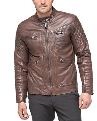 Andrew Marc X Richard Chai Weston Leather Jacket