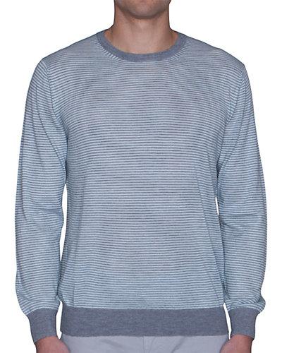 Robert Talbott Laguna Cashmere Feeder Stripe Crewneck Sweater