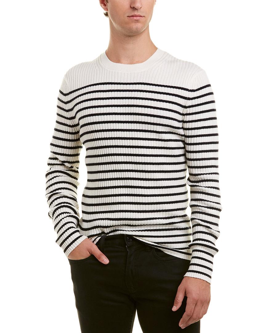 d5a555f2e7a5 Vince Mens Striped Cashmere Crew Sweater, M, White 190820271305   eBay