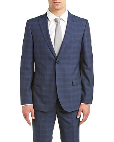 Zanetti Slim Fit Wool Suit with Flat Front Pant