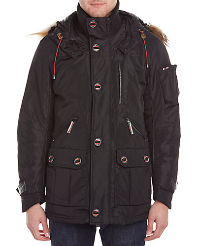 Rainforest ThermoLuxe Leather-Trim Classic Waxed Parka
