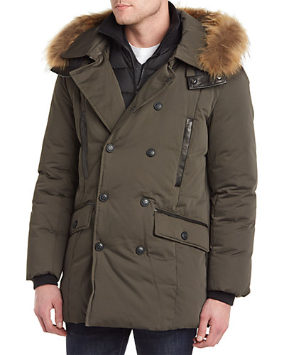 Soia & Kyo Sheldon Down & Leather Parka