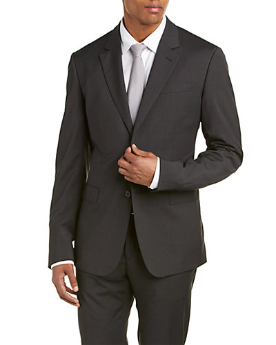 Moschino Wool-Blend Suit with Flat Front Pant