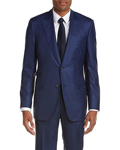 Paul Stuart Wool-Blend Suit with Flat Front Pant