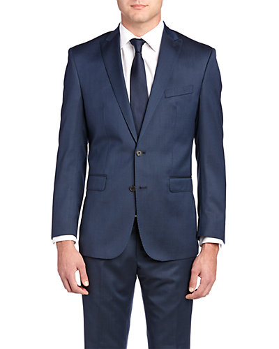 Ben Sherman Kings Slim Fit Suit with Flat Front Pant