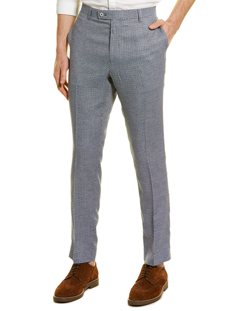 Paisley /& Gray Mens Downing Linen-Blend Slim Fit Pant Blue 33