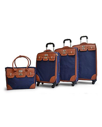 Adrienne Vittadini Travel Light 4pc Luggage Set