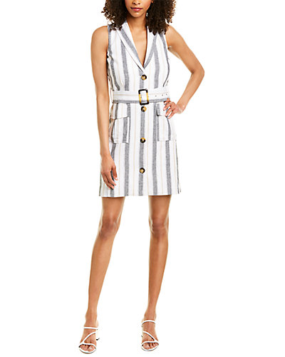 Rue La La — Laundry by Shelli Segal Linen-Blend Trench Dress
