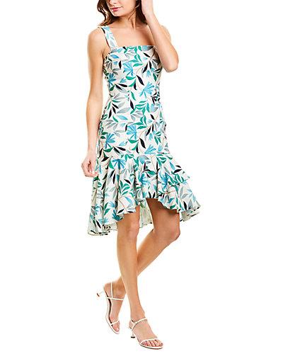 Rue La La — Alexia Admor Linen-Blend Drop-Waist Dress