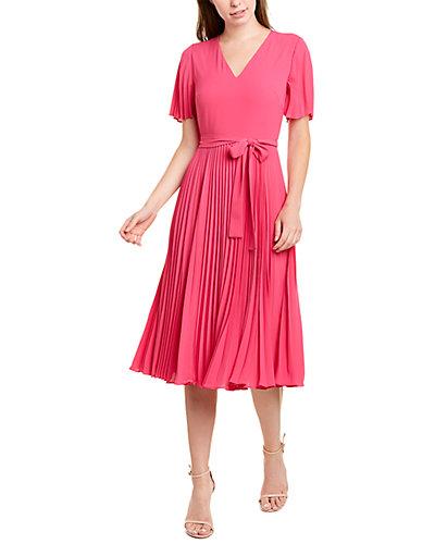 Rue La La — Donna Morgan Pleated Midi Dress