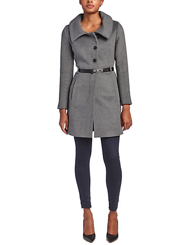 Soia & Kyo Autry Belted Wool-Blend Coat