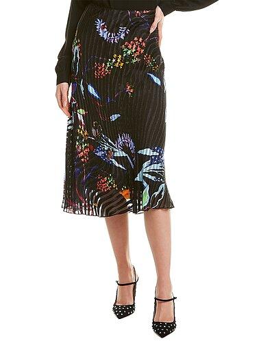Rue La La — Tanya Taylor Margaux Silk-Blend Midi Skirt
