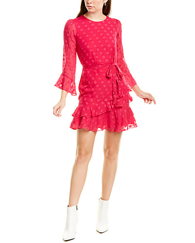 Rue La La — Saloni Marissa Silk-Blend Mini Dress