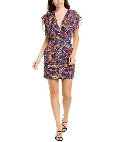 Rue La La — Saloni Brooke Silk Mini Dress