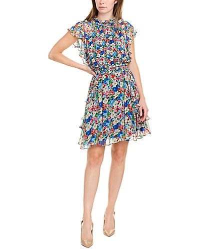 Rue La La — Shoshanna Venezia Silk Mini Dress