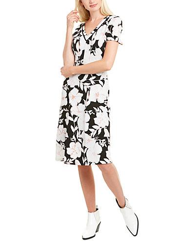 Rue La La — KARL LAGERFELD Crepe A-Line Dress