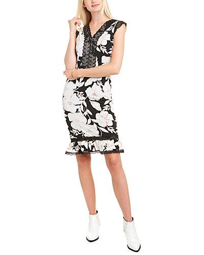 Rue La La — KARL LAGERFELD Lace-Trim Sheath Dress