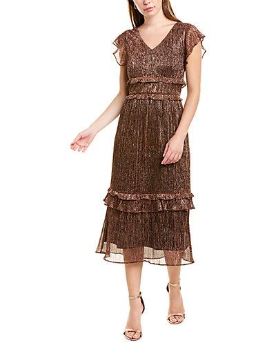 Rue La La — Julia Jordan Metallic Midi Dress