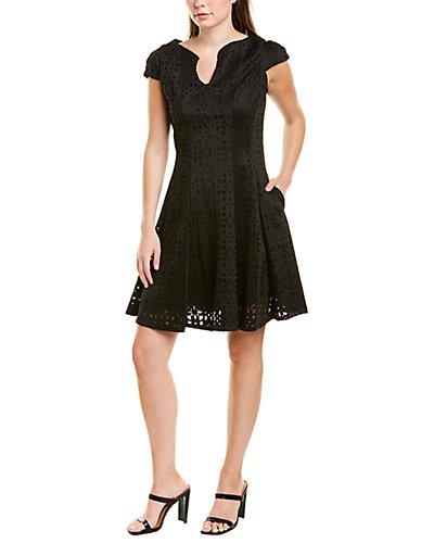 Rue La La — Julia Jordan Laser Cut A-Line Dress
