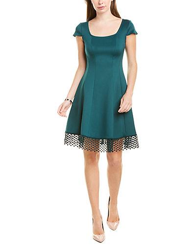 Rue La La — Donna Ricco Lace-Trim A-Line Dress