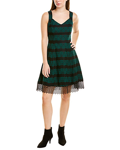 Rue La La — Donna Ricco Floral Lace A-Line Dress