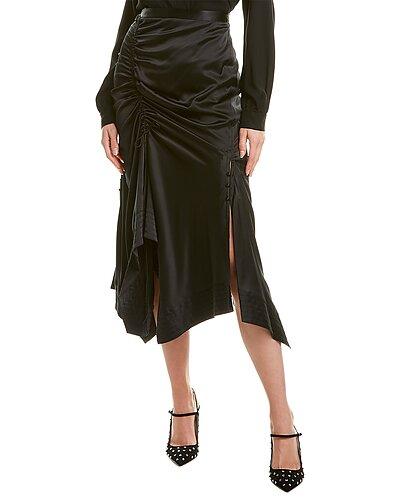 Rue La La — Tanya Taylor Raquel Silk-Blend Midi Skirt