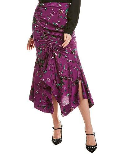 Rue La La — Tanya Taylor Raquel Silk Midi Skirt